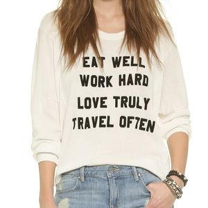 Wildfox Graphic Sweatshirt Small Ivory Long Sleeve